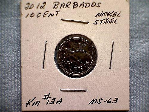 2012 BARBADOS TEN CENT