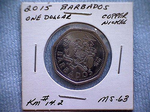 2015 BARBADOS ONE DOLLAR COIN