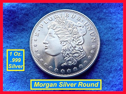 MORGAN Dollar TRADE UNIT •• 1 Oz Silver Round   •••  (#9103)