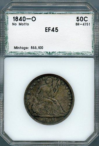 1840-O Liberty Seated Half PCI XF-45
