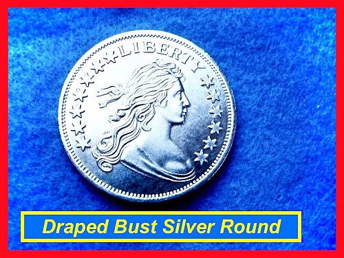 1 Oz Silver Round   ☆   Draped Bust Design ☆   (#9106a)•
