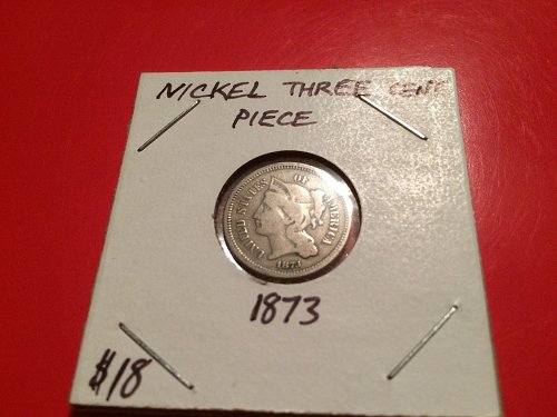 1873 three cent nickel nice detail