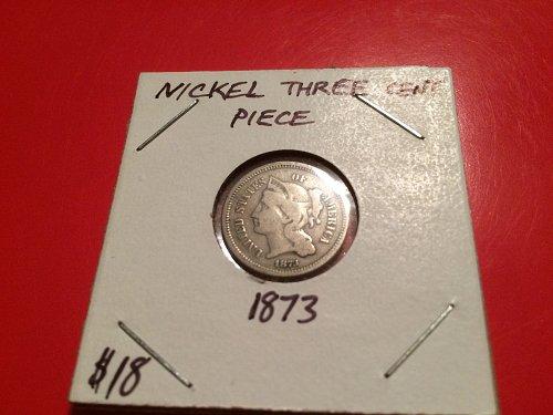 1873 three cent nickel nice detail