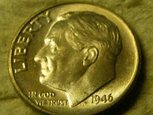 1946 P Roosevelt Silver Dime
