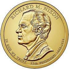 2016 S   - RICHARD NIXON  GOLDEN DOLLAR