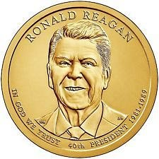 2016 S   - RONALD REAGAN  GOLDEN DOLLAR