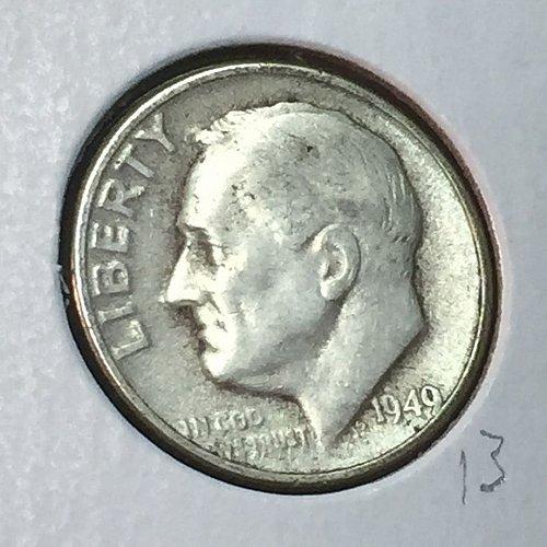 1949-D Roosevelt Dime (41077)