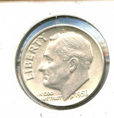 1956 Roosevelt Dime Silver BU Philadelphia