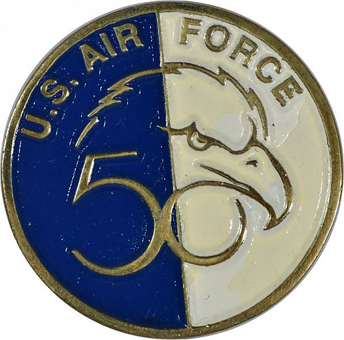 Challenge Coin, US Air Force 50th Anniversary, (Item 394)