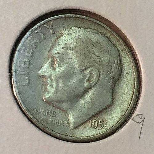 1951-S Roosevelt Dime (41129)