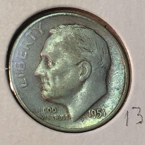 1951-S Roosevelt Dime (41135)