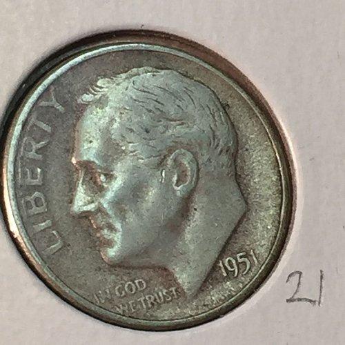 1951-S Roosevelt Dime (41142)