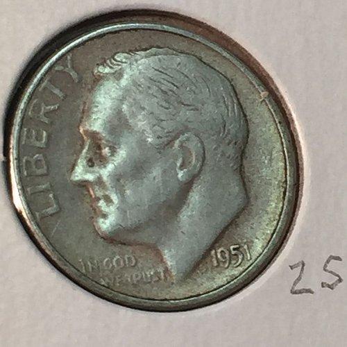 1951-S Roosevelt Dime (41153)