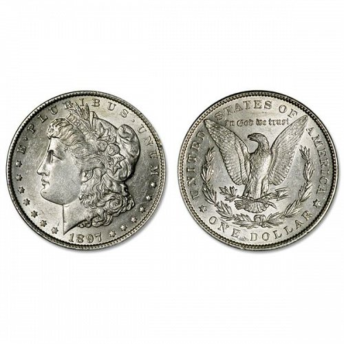 1897 S Morgan Silver Dollar - AU