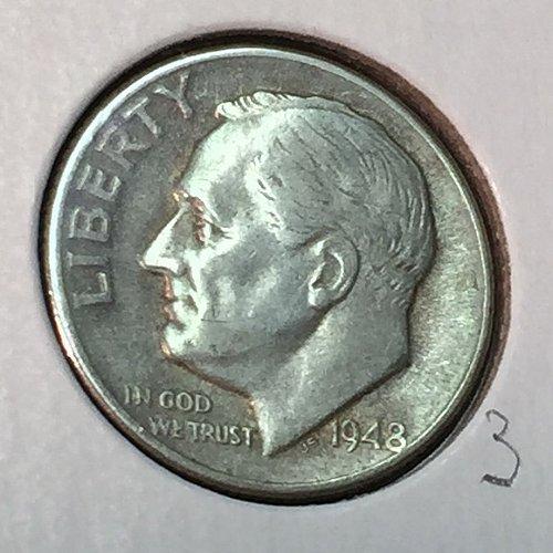 1948-D Roosevelt Dime (41168)
