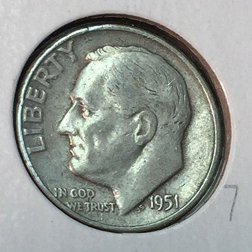 1951-P Roosevelt Dime (10316)