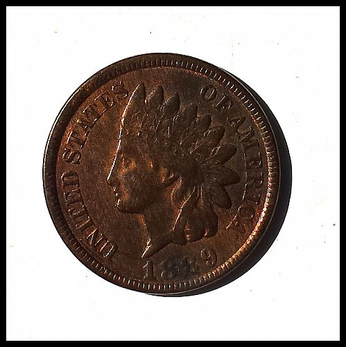 1889 P Indian Head Cent Small Cents: Laurel Wreath Reverse Without Shield
