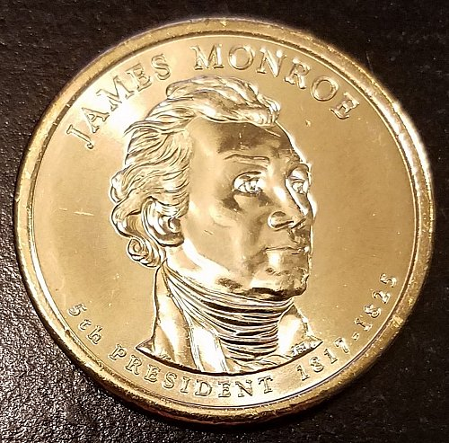 2008-P James Monroe Presidential Dollar  From Mint Roll (6593)