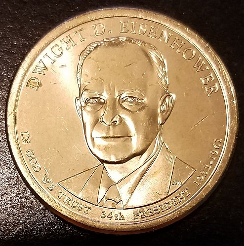 2015-P Dwight Eisenhower Presidential Dollar - From US Mint Roll (6597)
