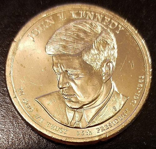 2015-P John F Kennedy Presidential Dollar - From US Mint Roll (6598)