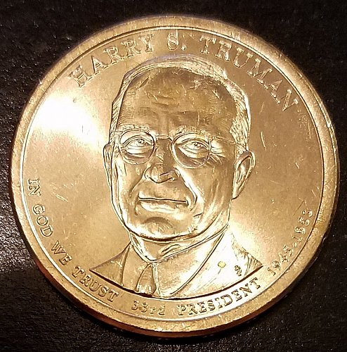 2015-P Harry S Truman Presidential Dollar - From US Mint Roll (6599)