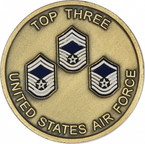 Challenge Coin, USAF Top Three Enlisted, (Item 396)