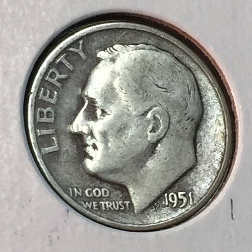 1951-D Roosevelt Dime (41171)