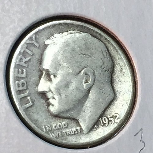 1952-P Roosevelt Dime (41172)