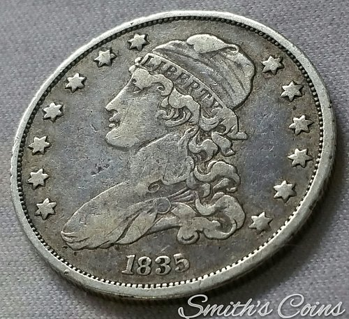 1835 Capped Bust Quarter ~ B-5, R-2 - VF