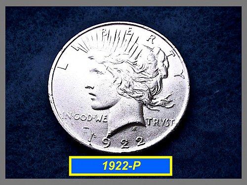 "1922-P PEACE Dollar  •••  ""AU-53/55""   (#5321)"