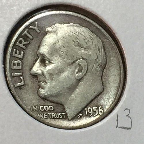 1956-D Roosevelt Dime (41185)