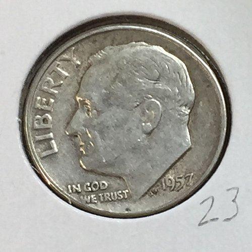 1957-P Roosevelt Dime (41189)