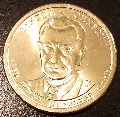 2015-P Lyndon B Johnson Presidential Dollar - From US Mint Roll (6601)
