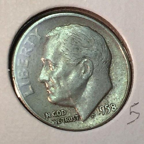 1958-D Roosevelt Dime (41193)