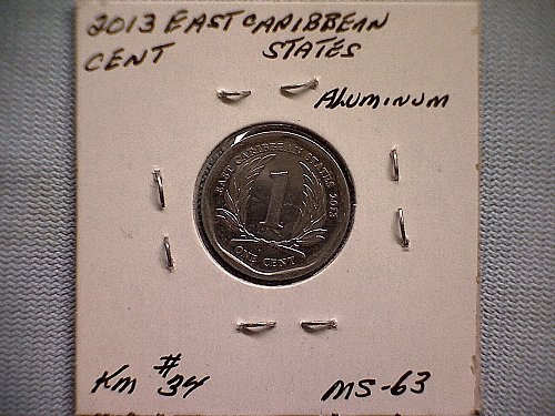 2013 EAST CARIBBEAN STATES ONE CENT