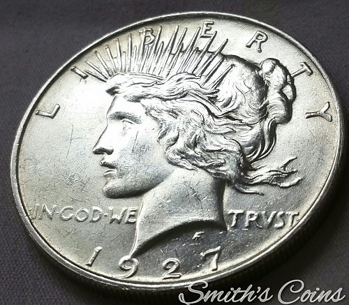 1927 D Peace Dollar ~ MS 61