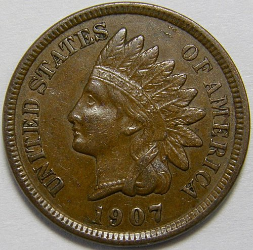 1907 P Indian Head Cent #20