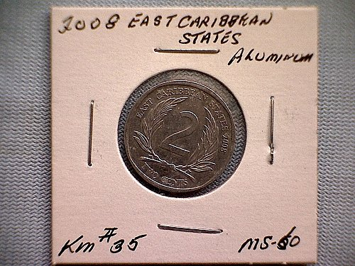 2008 EAST CARIBBEAN STATES TWO CENTS