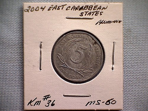 2004 EAST CARIBBEAN STATES FIVE CENTS