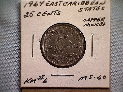 1964 EAST CARIBBEAN STATES TWENTY-FIVE CENTS