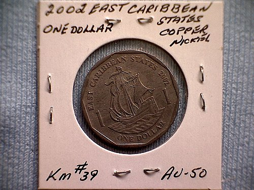 2002 EAST CARIBBEAN STATES ONE DOLLAR