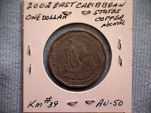 2002 EAST CARIBBEAN STATES ONE DOLLAR