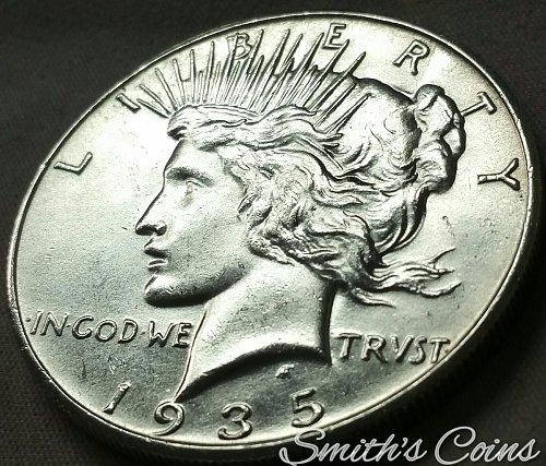 1935 S Peace Dollar ~ Net MS 60