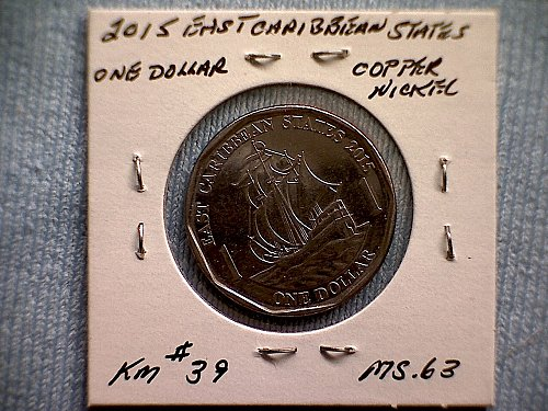 2015 EAST CARIBBEAN STATES  ONE DOLLAR