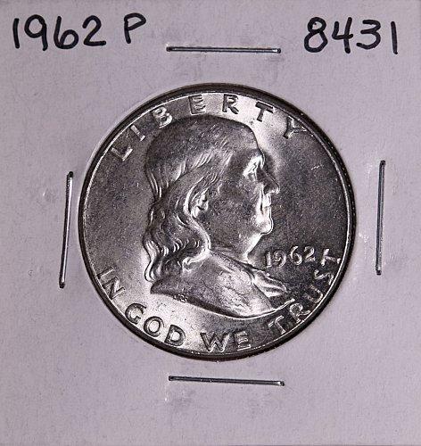 1962 P FRANKLIN SILVER HALF DOLLAR 8431 MS-BU
