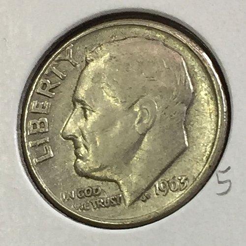 1963-D Roosevelt Dime (41236)