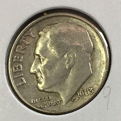 1963-D Roosevelt Dime (41238)