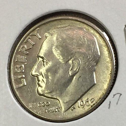 1963-D Roosevelt Dime (41243)
