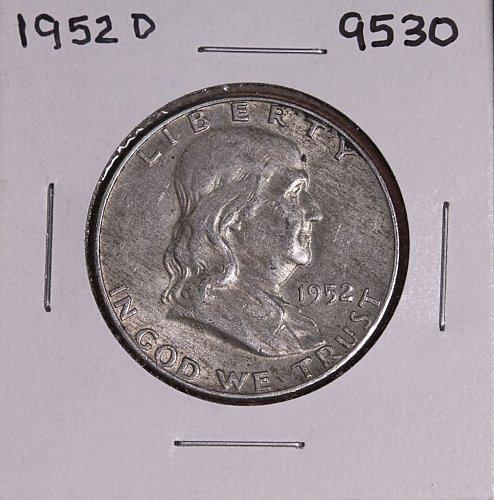 1952 D FRANKLIN SILVER HALF DOLLAR 9530