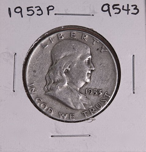1953 P FRANKLIN SILVER HALF DOLLAR 9543